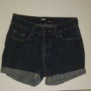 BDG Shortie 25 Roll Cuff jean shorts